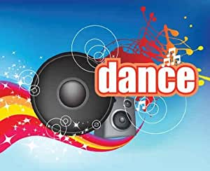 "Dance Party Music Modern Fun Flyer Design - 24""W x 20""H - Peel and Stick Wall Decal by Wallmonkeys"