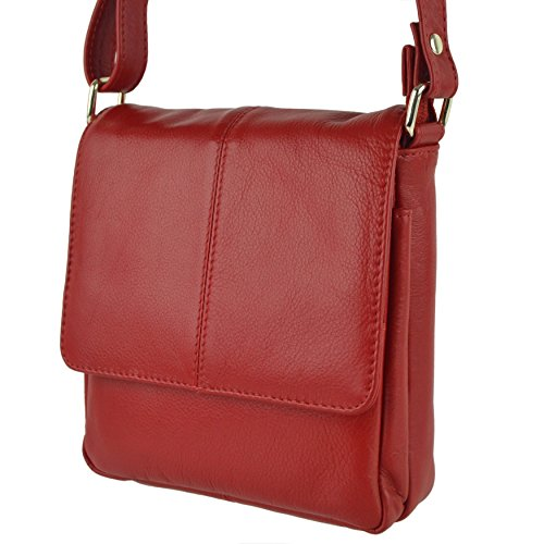 BAG LEATHER Ladies By Black Red Colours PrimeHide 5 Shoulder Handy Small Cross Body wpBxgp