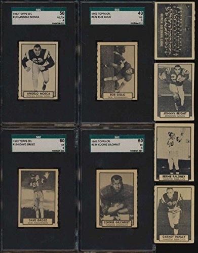 1962 Topps CFL Football VG/VGEX avg complete 169 card set low grade 46426
