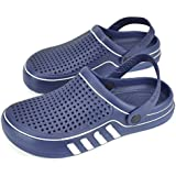 L.K Men Clogs Water Shoes Summer Antislip Sandals Garden Shoes Beach Pool Bathroom Breathable mesh Slippers