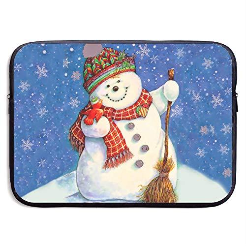 Homlife Laptop Sleeve Bag Cute Christmas Snowman Art 13/15 Inch Briefcase Sleeve Bags Cover Notebook Case Waterproof Portable Messenger Bags Beatles Rubber Soul Skin