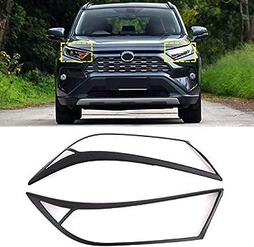 ABS Carbon Exterior Front Fog Light Lamp Cover Trim For Toyota RAV4 2019-2020