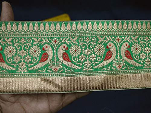 Wholesale Indian Laces Jacquard Trim Sari Border Metallic Trim Gold Lace Trim Decorative Ribbon Jacquard Trim by 9 Yard Brocade Trimmings