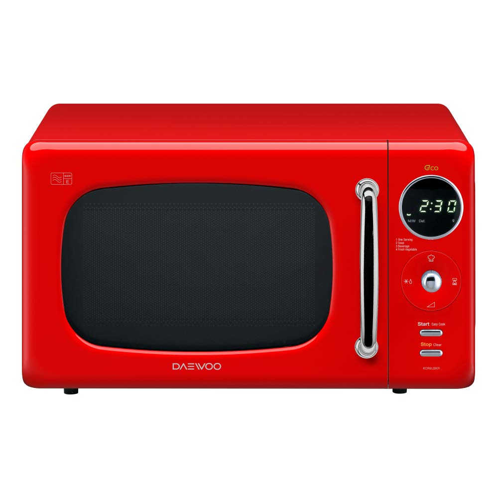 Daewoo KOR9LBKBLR Touch Control Microwave with Zero Standby ECO Function, 800 W, 20 Litre, Blue