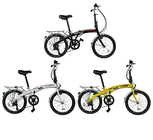 Read About Xspec 20 7 Speed City Folding Compact Bike Bicycle Urban Commuter Shimano