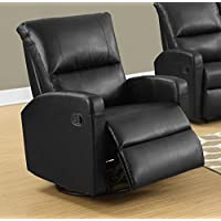 Monarch I 8084Bk Swivel Glider Recliner, Black