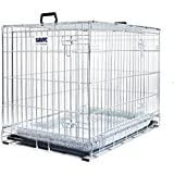 Easy To Assemble Metal Dog Cage With Cushion. Keep Your Dogs Safe During Transport & Also Give Your Pet Somewhere Protected And Comfortable At Home. (76 x 53 x 61 cm (L x W x H))