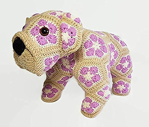 Bulldog Key cover - Amigurumi Crochet PDF Pattern (English Edition ... | 426x500