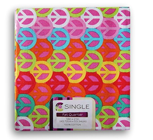 Waverly Inspirations Fat Quarters - Peace Signs for $<!--$2.85-->