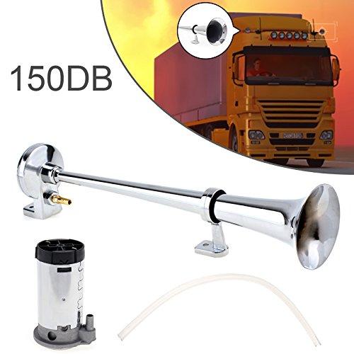 43,2 cm 150dB Super Laut 12V Single Trumpet Air Horn-Kompressor-Set f/ür Autos//Trucks//Boote//Motorr/äder//Fahrzeuge