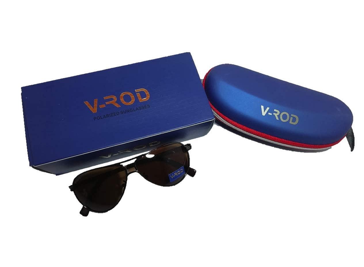 V Rod Unisex Aviator Polarized Sunglasses Thick Side Stick 89012