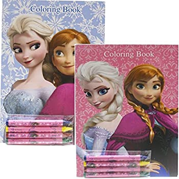High Quality Disney Frozen Coloring Book Set With Crayons 2 Books
