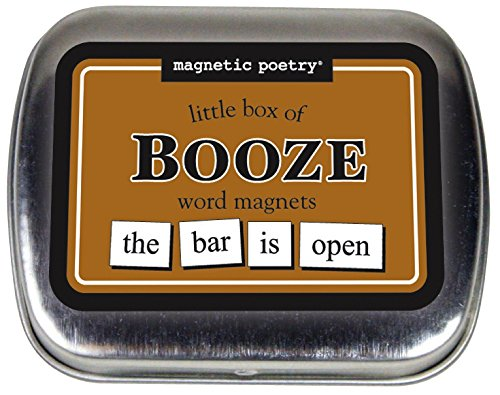 Magnetic Poetry - Little Box of Booze Kit - Words for Refrigerator - Write Poems and Letters on the Fridge - Made in the - Minneapolis America Of Mall Stores