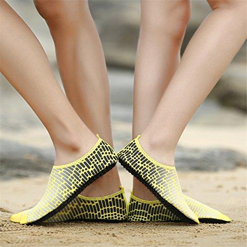 Nuoto di nudi Scarpe Amanti da danza piedi Calzature Rafting GLSHI pelle morbida a Scarpe C immersione spiaggia in da Yoga Sandali Nuoto qATSI