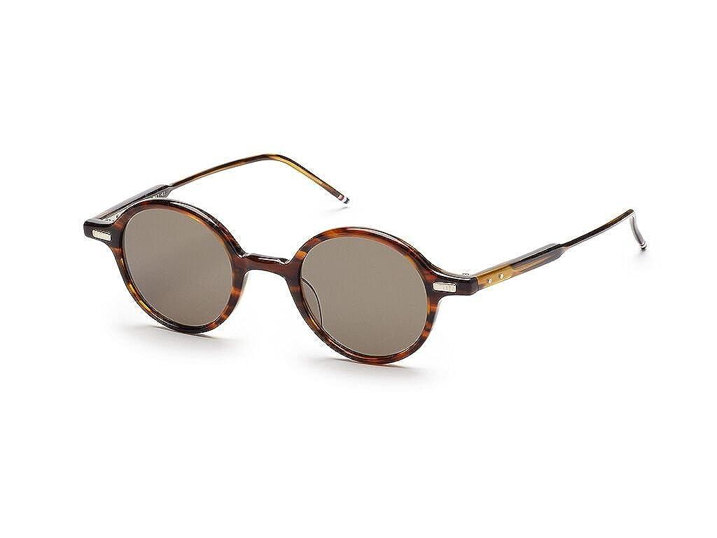 THOM BROWNE TB 407 B-T-WLT Walnut w// G15-AR Sunglasses