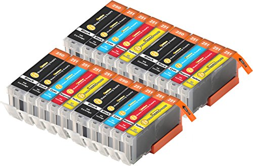 20 Pack B-Edition Ink Cartridges for CLI-251 PGI-250 PIXMA iP7220 iX6820 MG5420 MG5422 MG5520 MG5522 MG5620 MG6420 MG6620 MX722 MX922 (4 of each color) by Blake Printing Supply