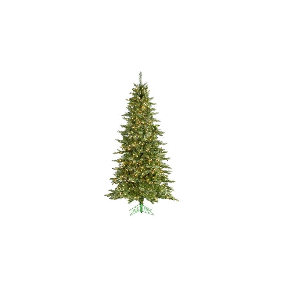 7.5 Pre Lit Layered Lime Green Frasier Fir Artificial Christmas Tree Clear Lit