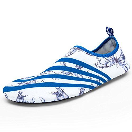 1 DFS acuático Butterfly Ultra zapatos calzado natación esquí Skid light playa de cuidado la Lucdespo zapatos de Anti transpirables piel brandy UwATqxR