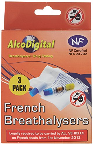 French NF Approved Breathalyzer Triple Pack - (set of 3)