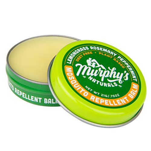 Murphy's Naturals Mosquito Repellent Balm | Anti-Mosquito DEET Free Plant-Based Ingredients Include Lemongrass, Rosemary, Peppermint and Beeswax | Made in USA | Pocket Size 0.75 oz (Best Mosquito Repellent For Camping)