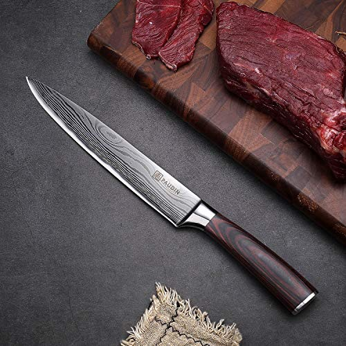 Slicing Carving Knife - PAUDIN 8 inch Chef Knife Kitchen Knife with High Carbon Stainless Steel, Ergonomic Handle with Gifted Box by PAUDIN (Image #7)