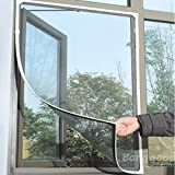 WX-318 Insect Fly Bug Mosquito Door Window Mesh Screen Sticky Velcro Tap
