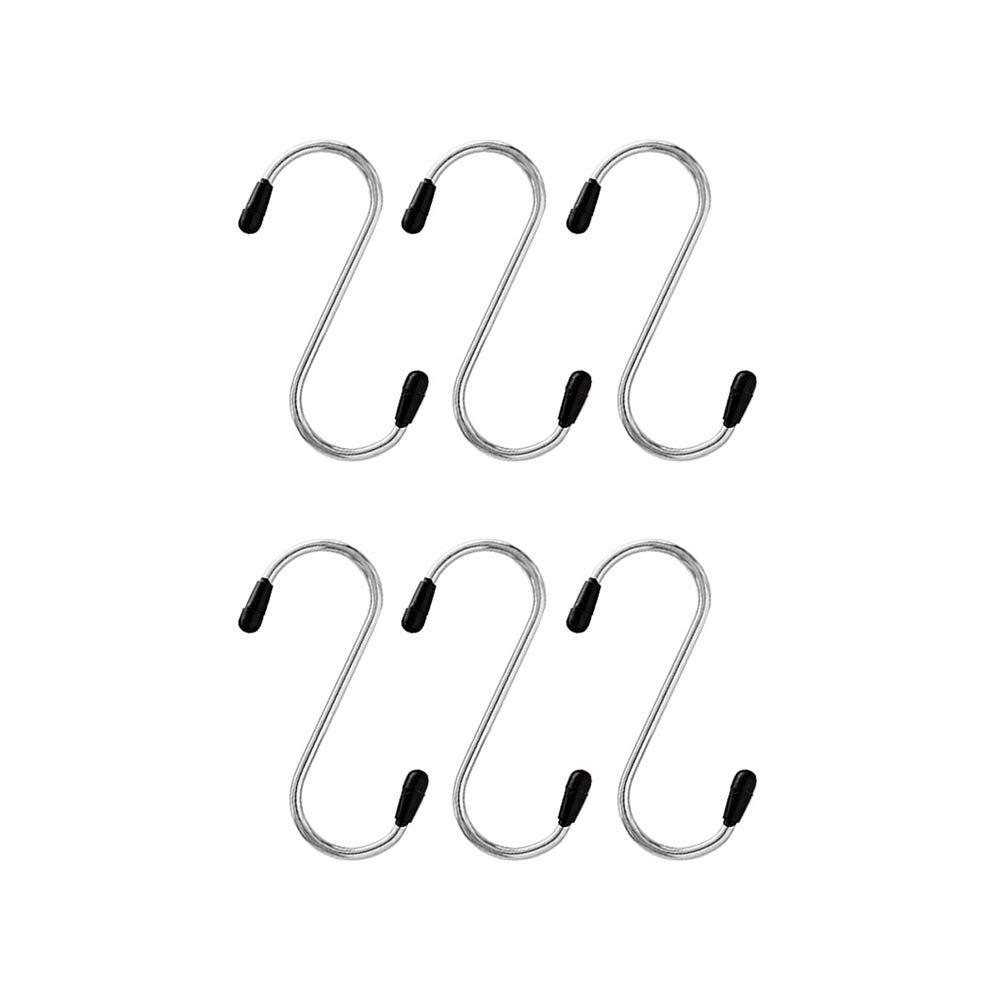 Silber STOBOK 12ST Schwere S-f/örmige Haken Metall Kleider Kleiderb/ügel f/ür K/üche Bad