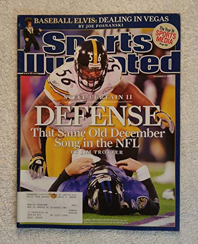 LaMarr Woodley - Pittsburgh Steelers - Steel Curtain II - Defense - Sports Illustrated - December 22, 2008 - SI