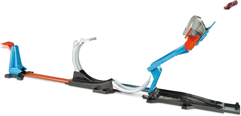 Hot Wheels - Stunt Builder cohete de inicio Challenge (Mattel FLK60)