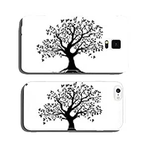series vector, vector black tree with roots cell phone cover case Samsung S6