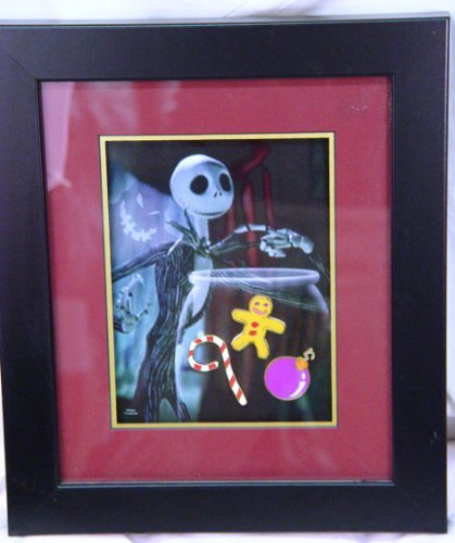 (Nightmare Before Christmas Haunted Mansion Holiday Event Framed Pin Set - MIB)
