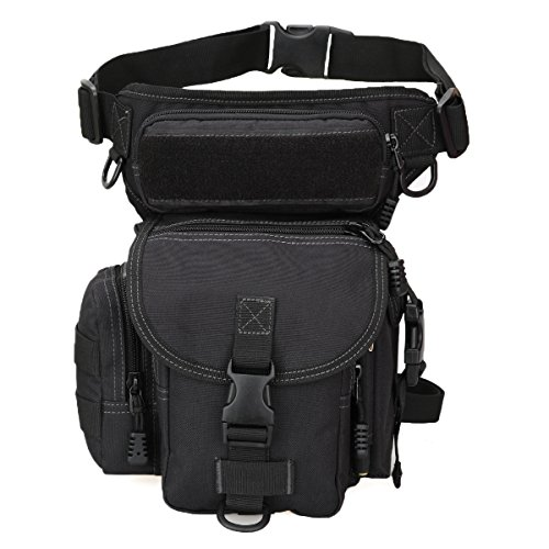 Multipurpose Tactical Fanny Pack Walking Man Military Drop Leg holster Bag Tool Thigh Waist Belt Pack Leg Pouch Paintball Airsoft Motorcycle Riding Camera EDC Bag Sling Pack Men Tactical iphone Case