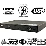LG BPM55 2D/3D - BD - DVD - CD -Wi-Fi MultiZone Region Code Free DVD 012345678 PAL/NTSC Blu Ray Zone A/B/C. DivX XviD AVI and MKV Playback and Support. 100~240V 50/60Hz Auto