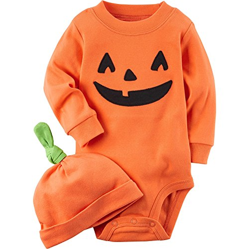 Carter's 2-Piece Pumpkin Hat and Collectible Bodysuit Newborn ()