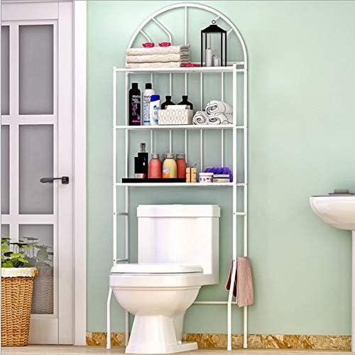 Ripiani di Lavatrice 53x28x166 cm Scaffale sopra Lavatrice Scaffale Bagno e WC Mobile sopra toilettes 3 Ripiani Organizer Multi-Funzione Greensen Mobile sopra Toilettes-Salvaspazio per Bagno