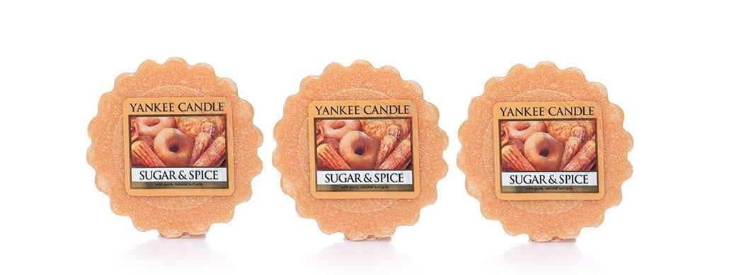Yankee Candle Lot of 3 SUGAR /& SPICE .8 oz Tarts Wax Melts