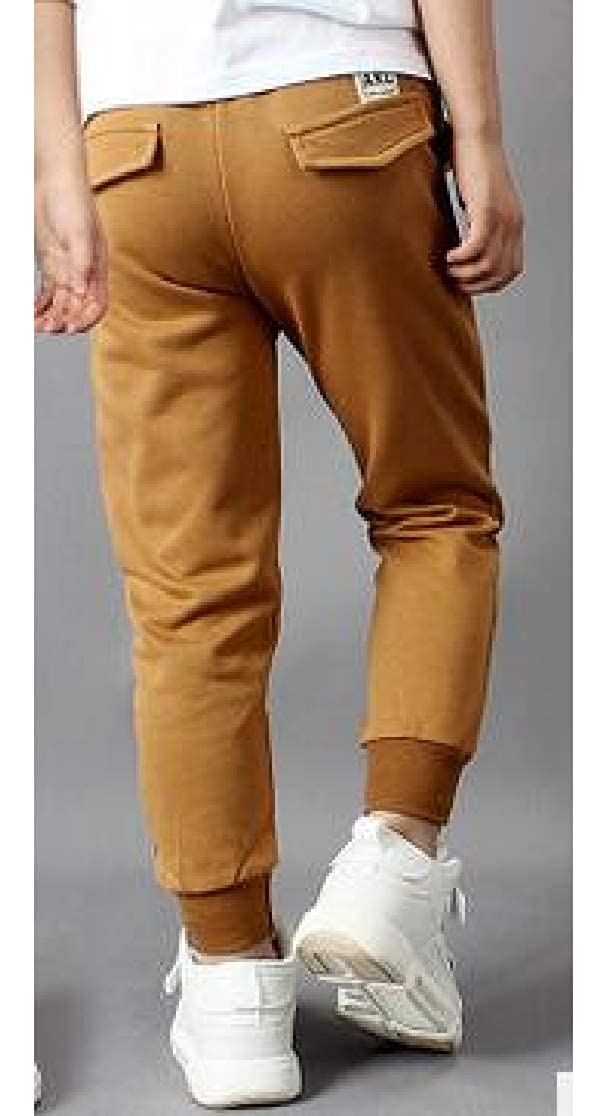 Joe Wenko Boys Casual Cotton Loose Jogger Sports Pure Color Pant