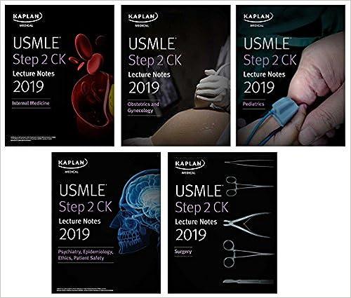 USMLE Step 2 CK Lecture Notes 2019: 5-book set (Kaplan Test