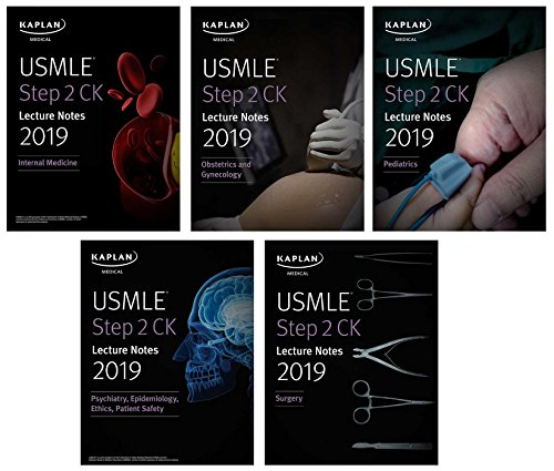 ure Notes 2019: 5-book set (Kaplan Test Prep) ()