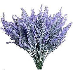 Aplstar Artificial Flowers Lavender Bouquet in Purple Artificial plant for Home Decor, Wedding,Garden,Patio Decoration,4 Bundles