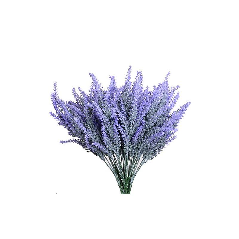silk flower arrangements aplstar artificial flowers lavender bouquet in purple artificial plant for home decor, wedding,garden,patio decoration,4 bundles