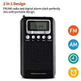 AM FM Portable Pocket Radio with Alarm Clock