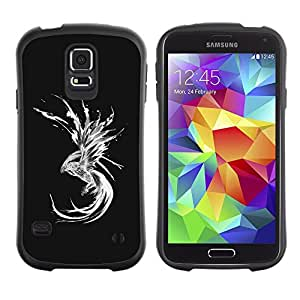 Paccase / Suave TPU GEL Caso Carcasa de Protección Funda para - dragon abstract mermaid black white - Samsung Galaxy S5 SM-G900