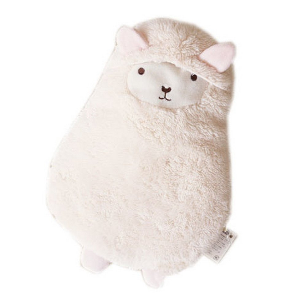 Cute Animal White Alpaca Hot Water Bottle 600ML