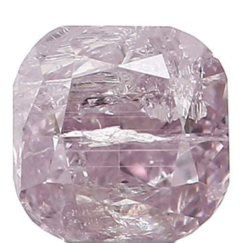 Narshiha Natural Loose Diamond Cushion Pink Color I3 Clarity 3.30 MM 0.28 Ct N7167 ()