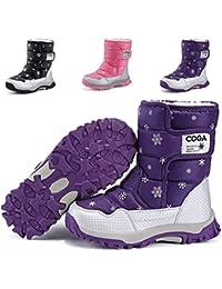 Boy's Girl's Outdoor Waterproof Cold Weather Snow Boots(Toddler/Little Kid/Big Kid)