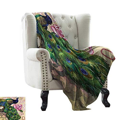 (homehot Soft Blanket Throw Music Decor,Music Old Fashioned Speaker Loudspeaker Geometrical Striped Background 70