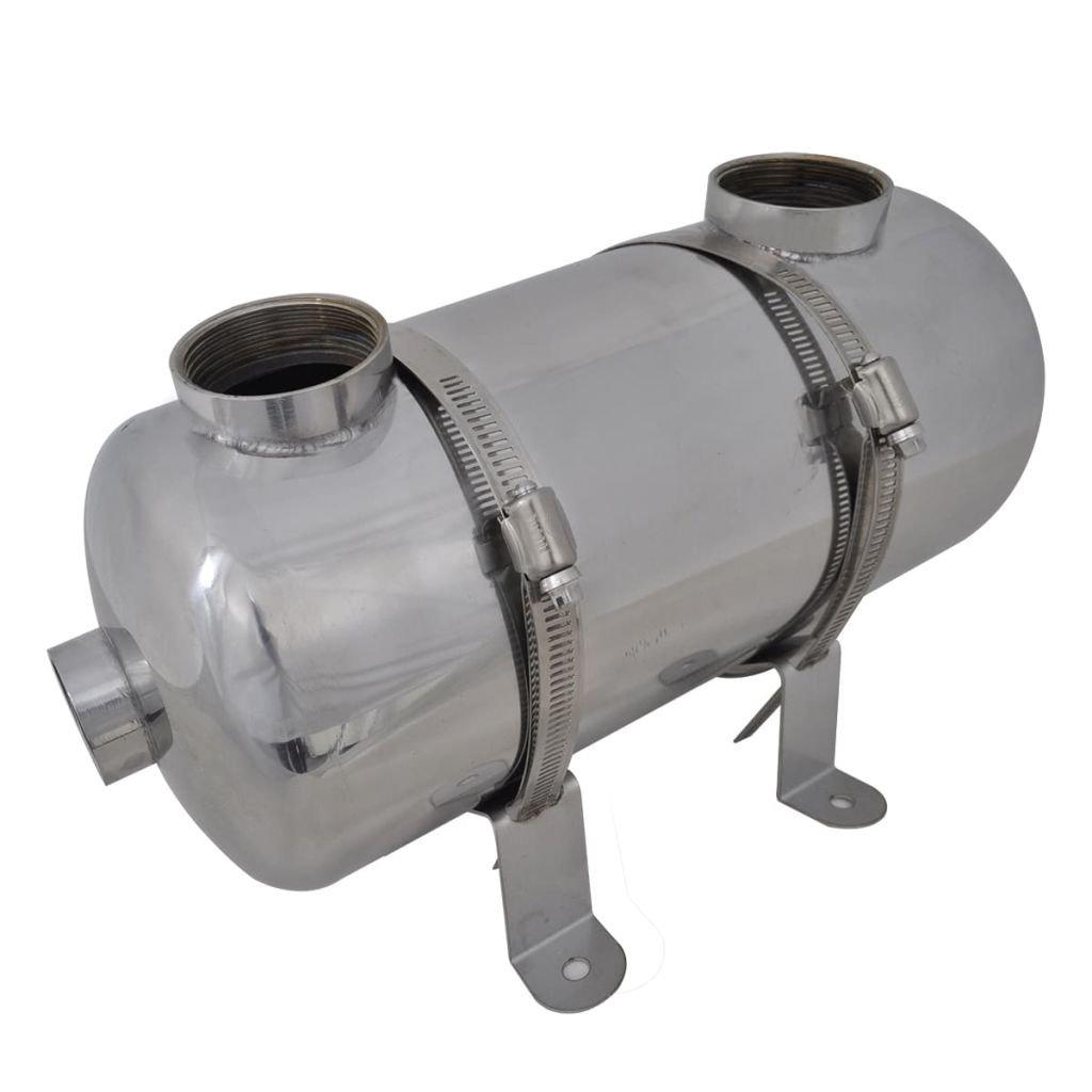 vidaXL Échangeur de Chaleur pour Piscine 292x134 mm 28 KW Échangeur Thermique