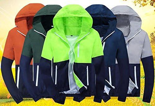 Amcupider Mens Contrast Zip Front-Zip Jacket