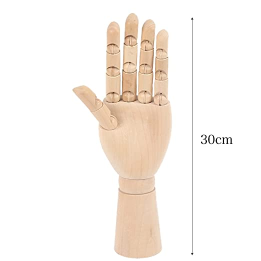h.effect 木製ハンドモデル 左手
